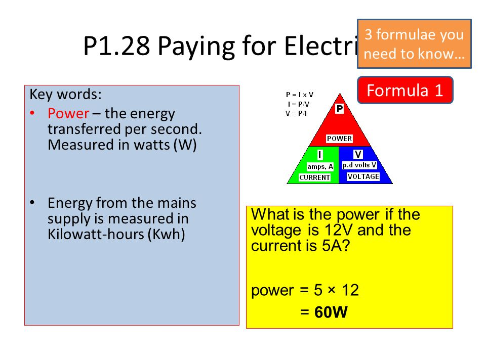 P1.28 Paying for Electricity Electricity meters measure the number of units of electricity used in a home or other building.