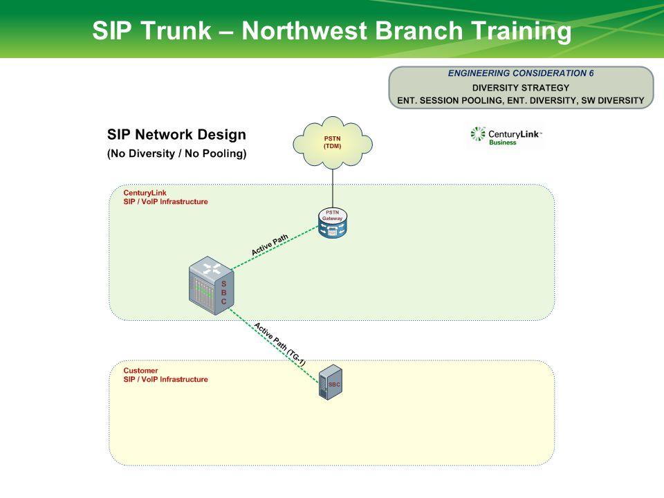 SIP Trunk – Northwest Branch Training