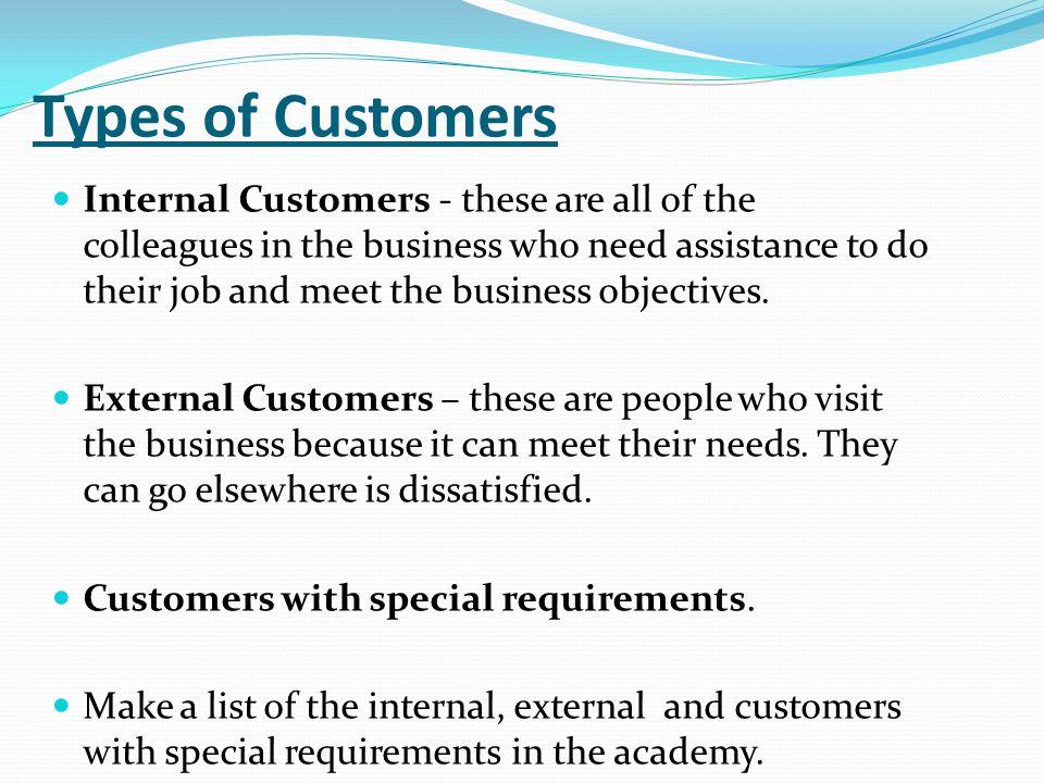 InternalExternalSpecial Requirements