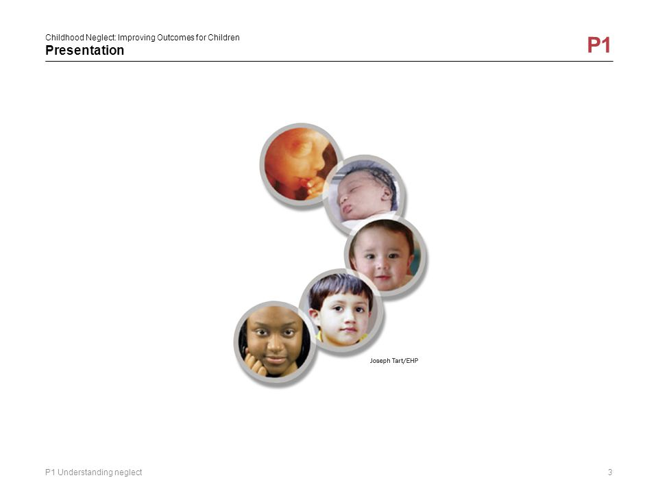Childhood Neglect: Improving Outcomes for Children Presentation P1 P1 Understanding neglect3
