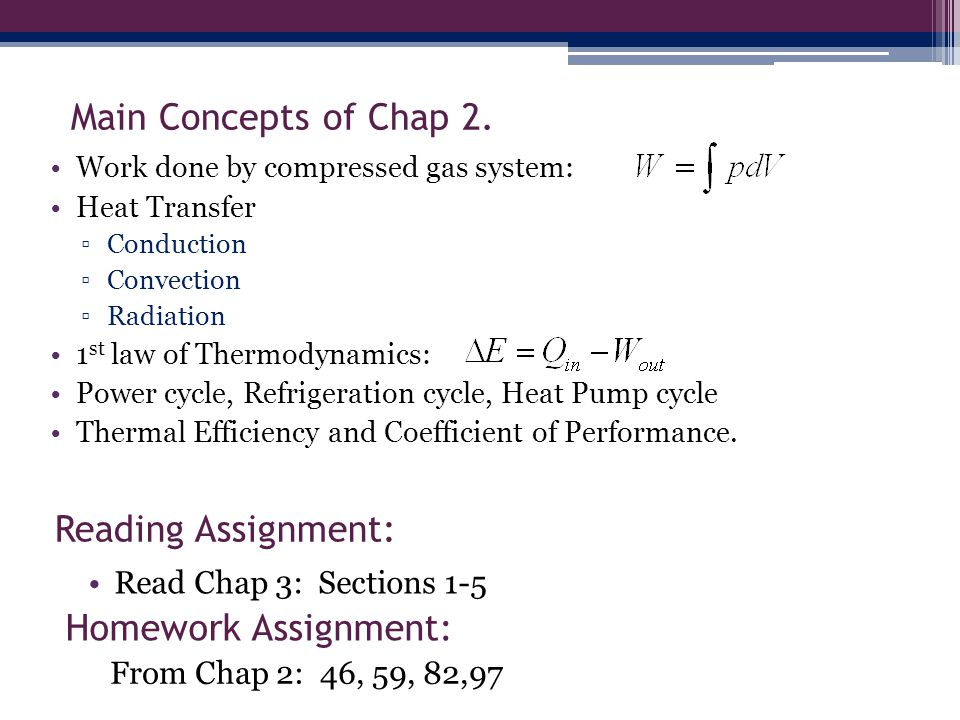 Main Concepts of Chap 2.