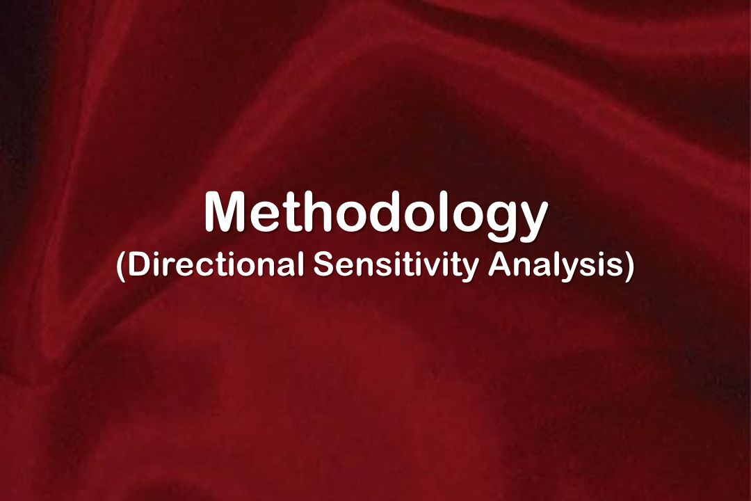 Methodology (Directional Sensitivity Analysis)