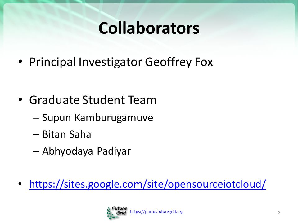 https://portal.futuregrid.org Anabas, Inc. & Indiana University
