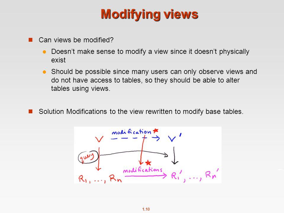 1.10 Modifying views Can views be modified.