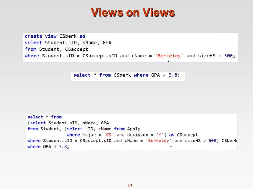1.7 Views on Views