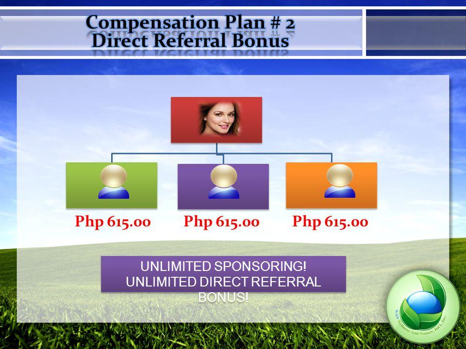 PAIRING BONUS 150pv:150.00 1.Pairing Bonus is based on 150pv 2.