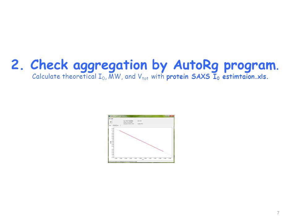 2. Check aggregation by AutoRg program.