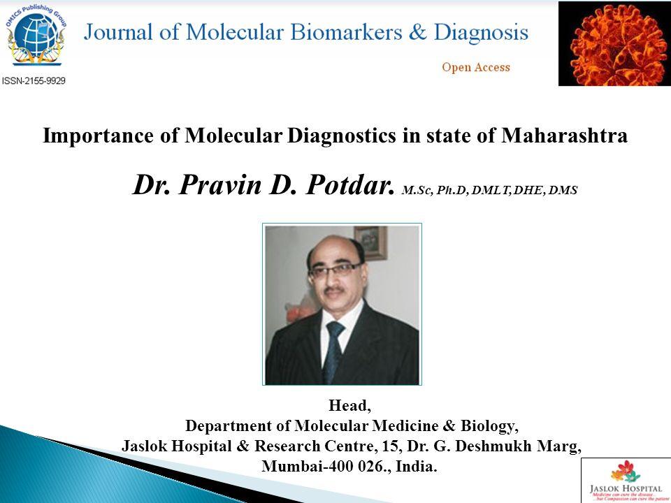 Molecular Diagnostics Implementing New Discipline April 14, 2003 NIH Director Francis Collins, then-director of the U.S.