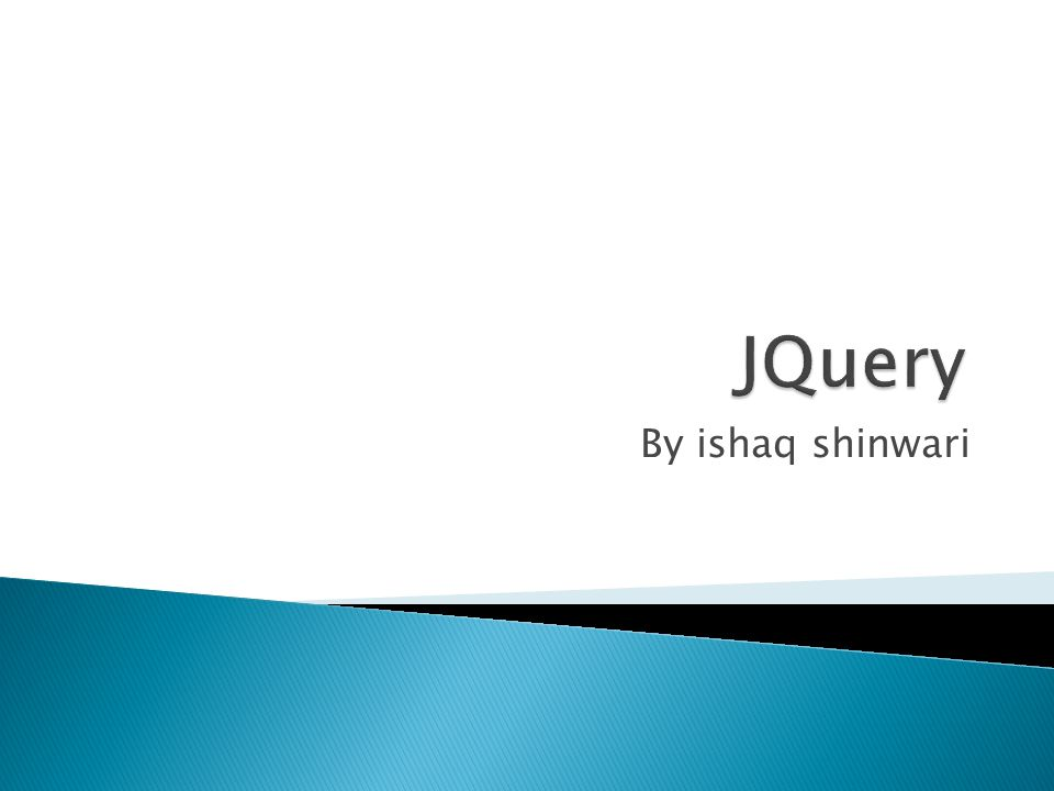  jQuery is a lightweight, write less, do more , JavaScript library.