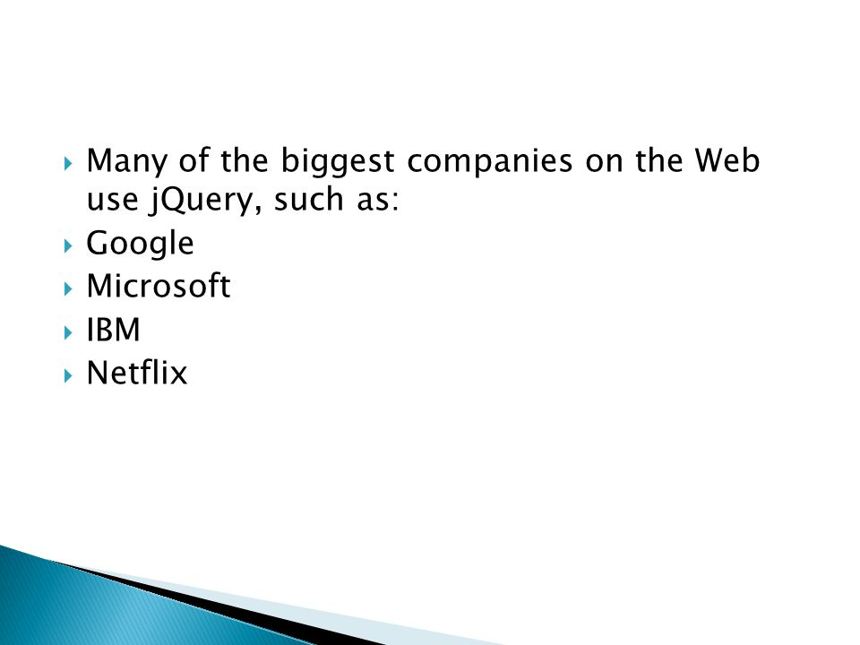  jQuery is a JavaScript Library. jQuery greatly simplifies JavaScript programming.