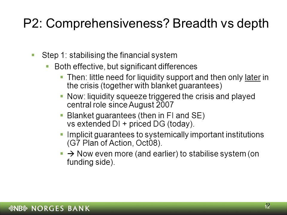 12 P2: Comprehensiveness.