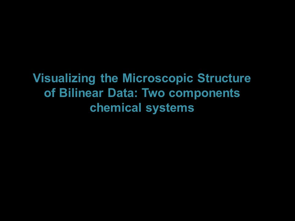 Visualizing the Microscopic Structure of Bilinear Data: Two components chemical systems