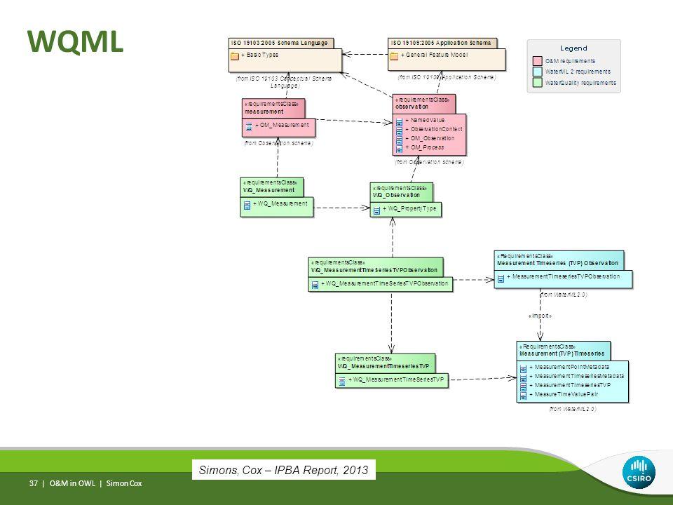 WQML O&M in OWL | Simon Cox 37 | Simons, Cox – IPBA Report, 2013