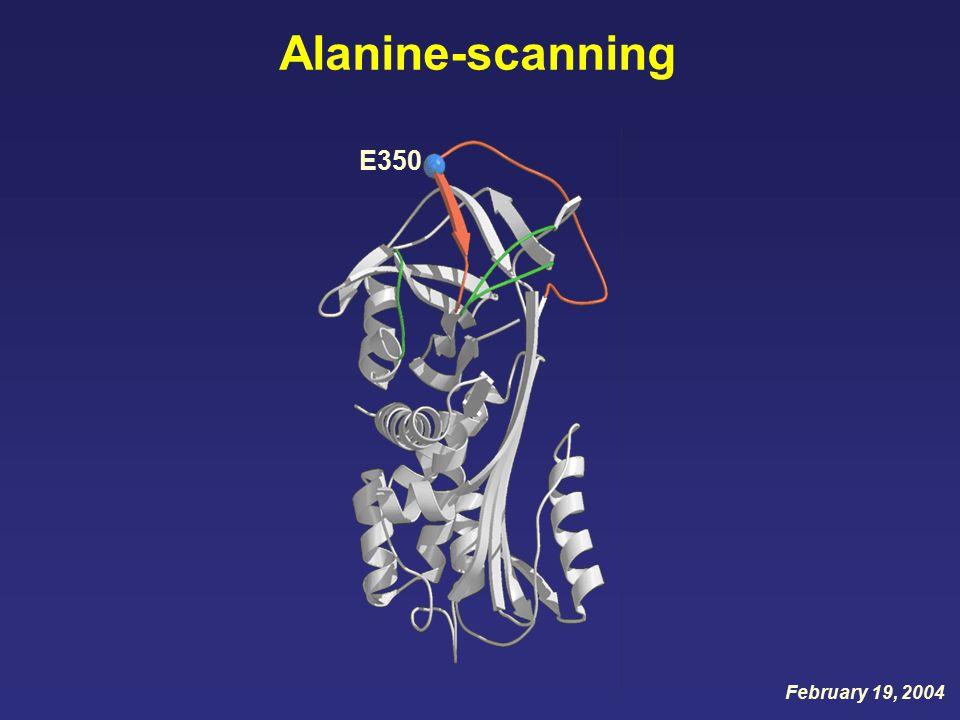 Alanine-scanning E350 February 19, 2004