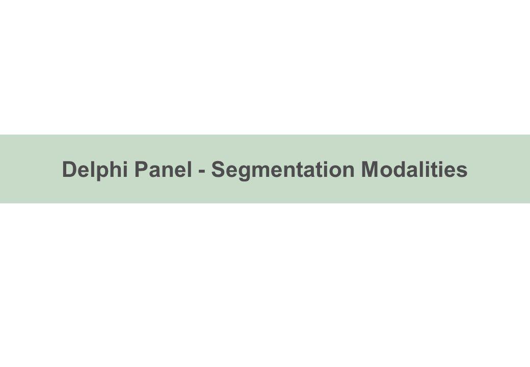 Delphi Panel - Segmentation Modalities