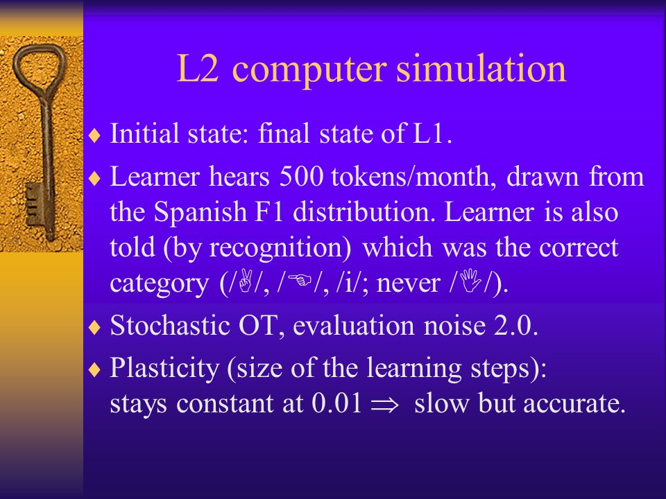 L2 computer simulation  Initial state: final state of L1.