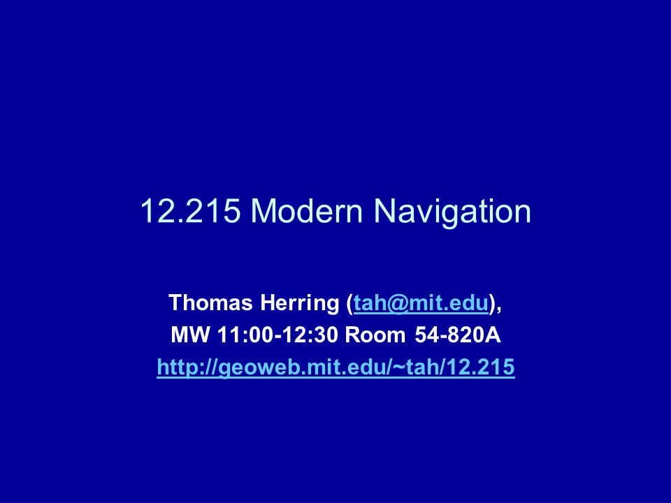 11/18/200912.215 Modern Naviation L1712 Basic Constellation Orbits shown in inertial space and size relative to Earth is correct