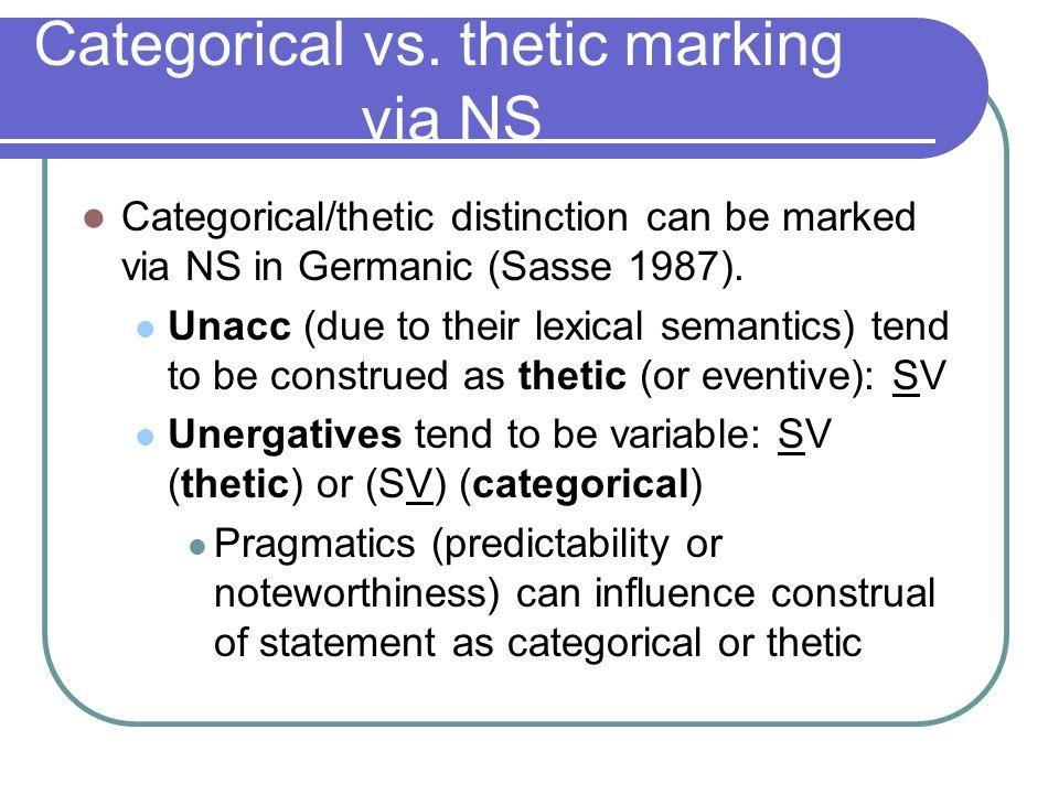Categorical vs.