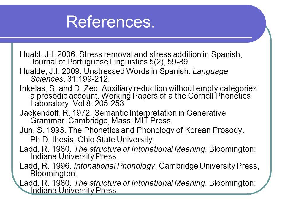 References. Huald, J.I. 2006.