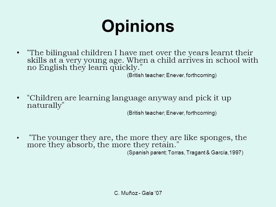 C. Muñoz - Gala 07... like a sponge young children soak up languages