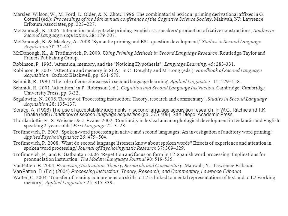 References Bates, E., and J. Goodman. 1997.