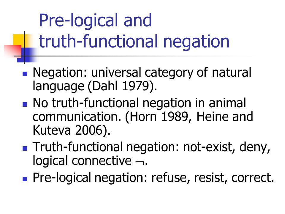 OT constraints negation FNeg: Be faithful to negation, i.e.