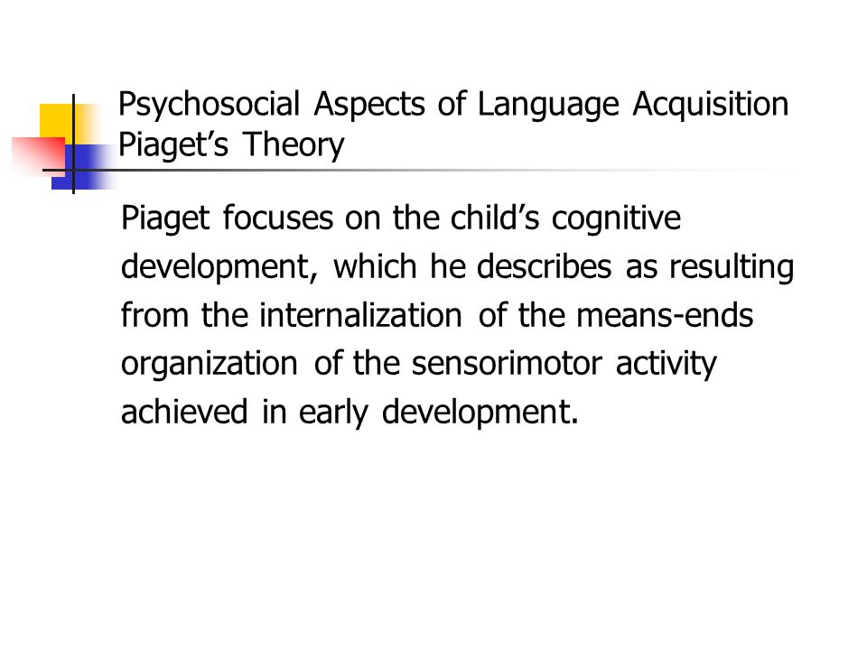 Psychosocial Aspects of Language Acquisition Introduction Psychosocial aspects of language acquisition are mainly concerned about how language, though