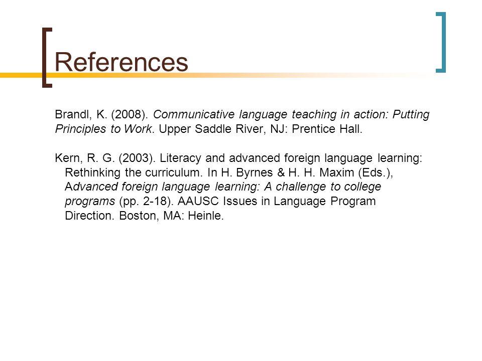 References Brandl, K. (2008).