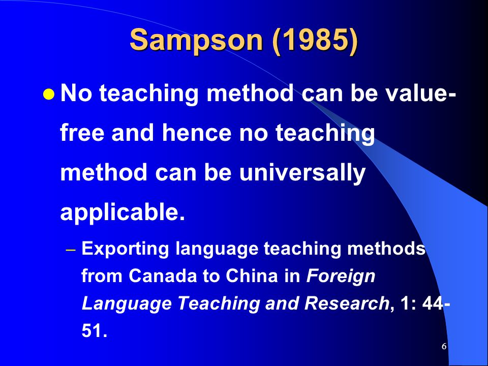 5 Question Is Task-based language teaching importable to China?