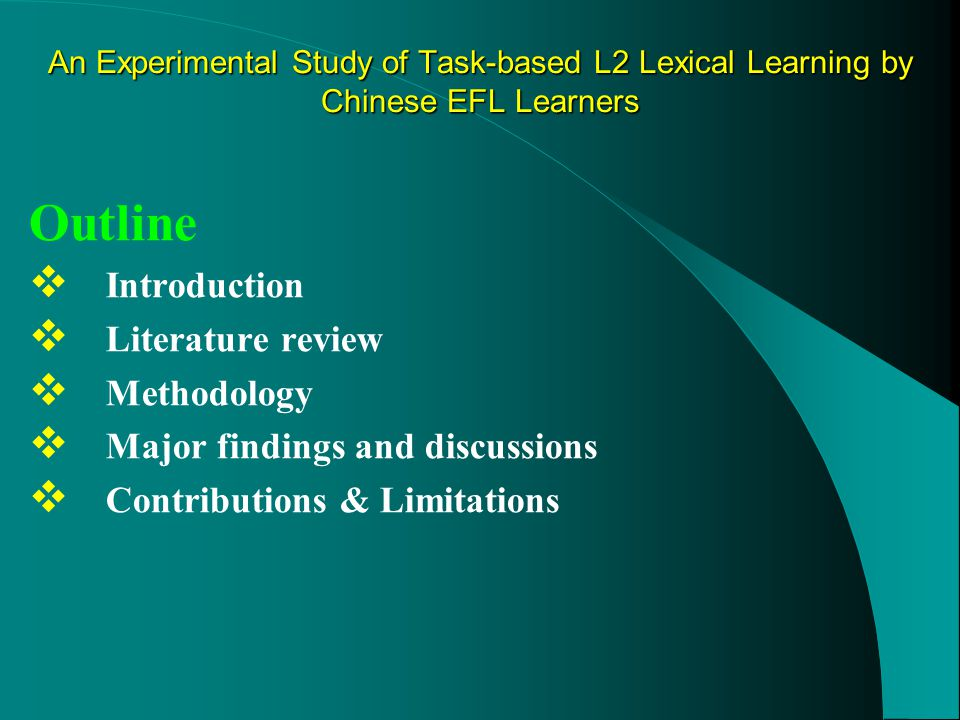  Effects of task frequency Findings &discussions 2.