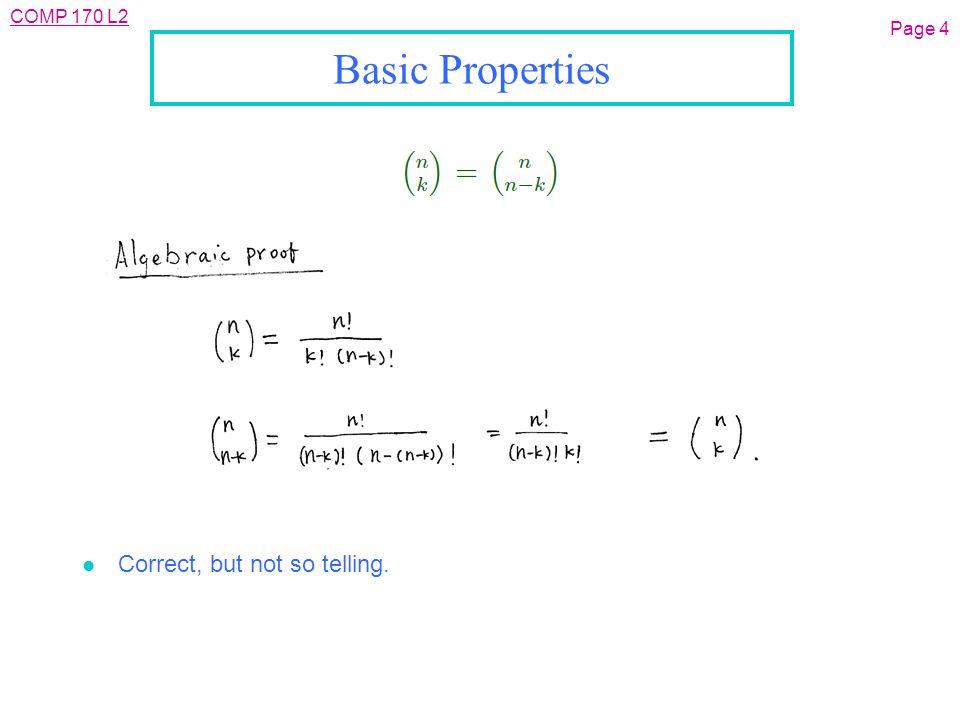 COMP 170 L2 Page 35 Trinomial Coefficients