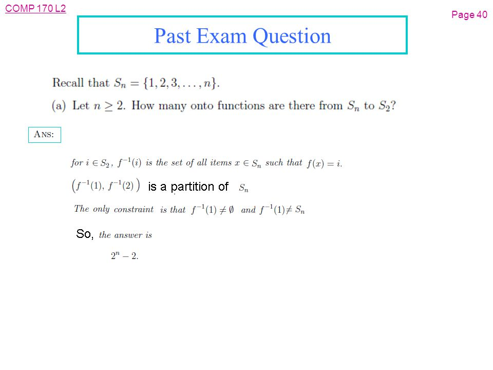 COMP 170 L2 Page 40 Past Exam Question