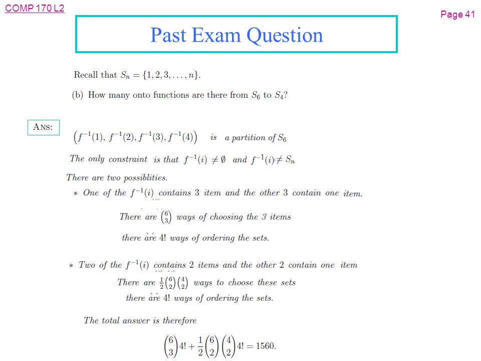COMP 170 L2 Page 41 Past Exam Question