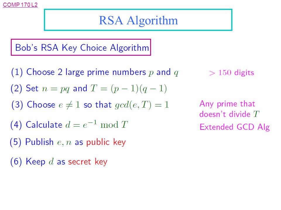COMP 170 L2 RSA Algorithm