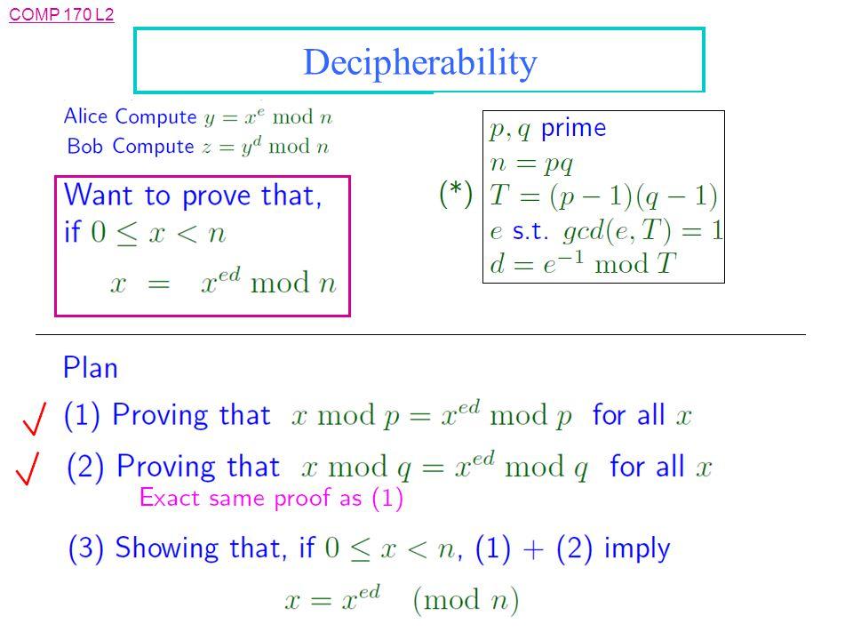 Decipherability