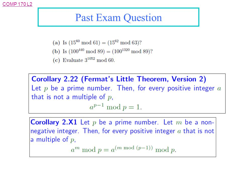 COMP 170 L2 Past Exam Question