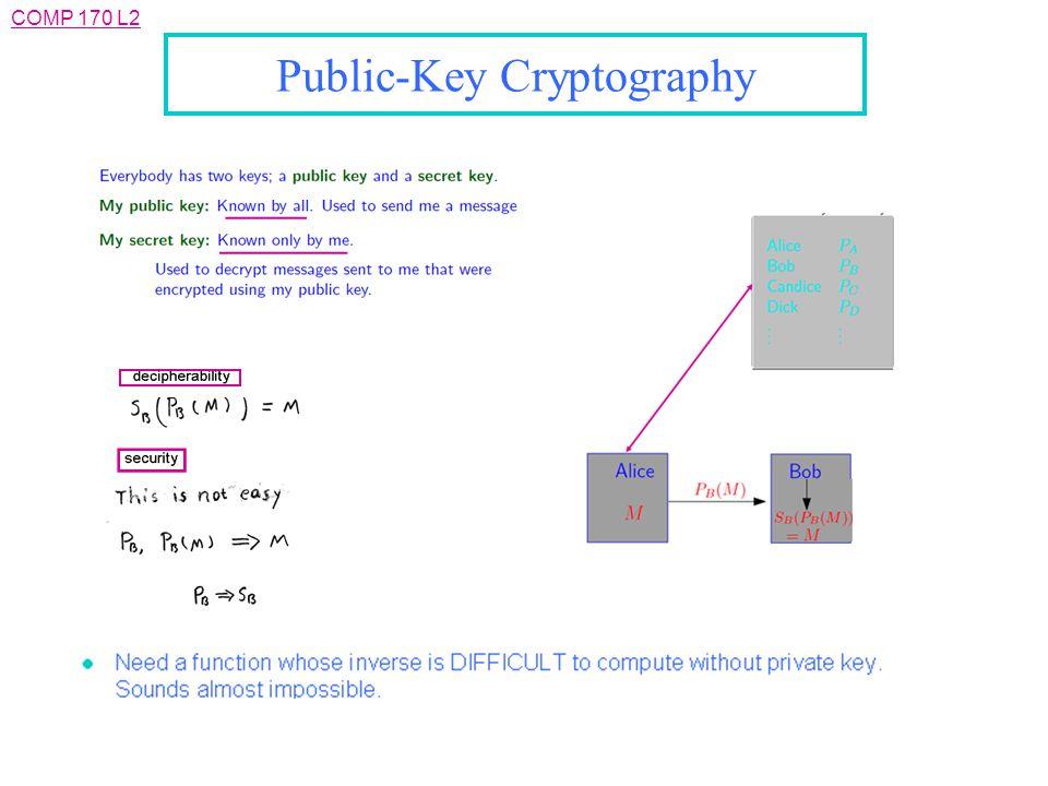 COMP 170 L2 Public-Key Cryptography