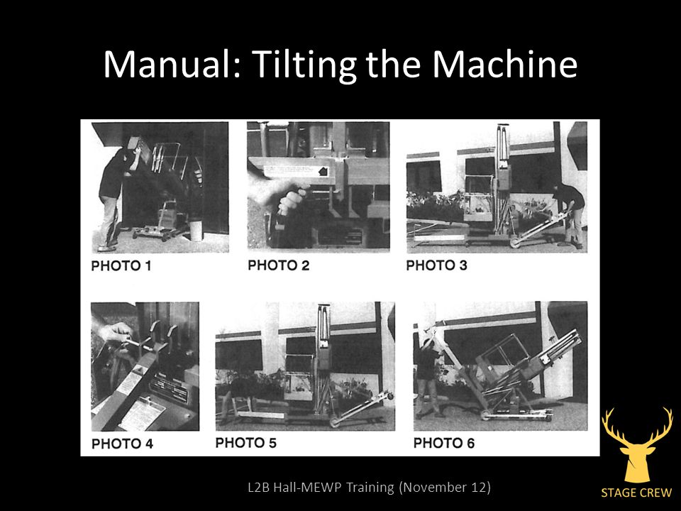 L2B Hall-MEWP Training (November 12) Manual: Tilting the Machine