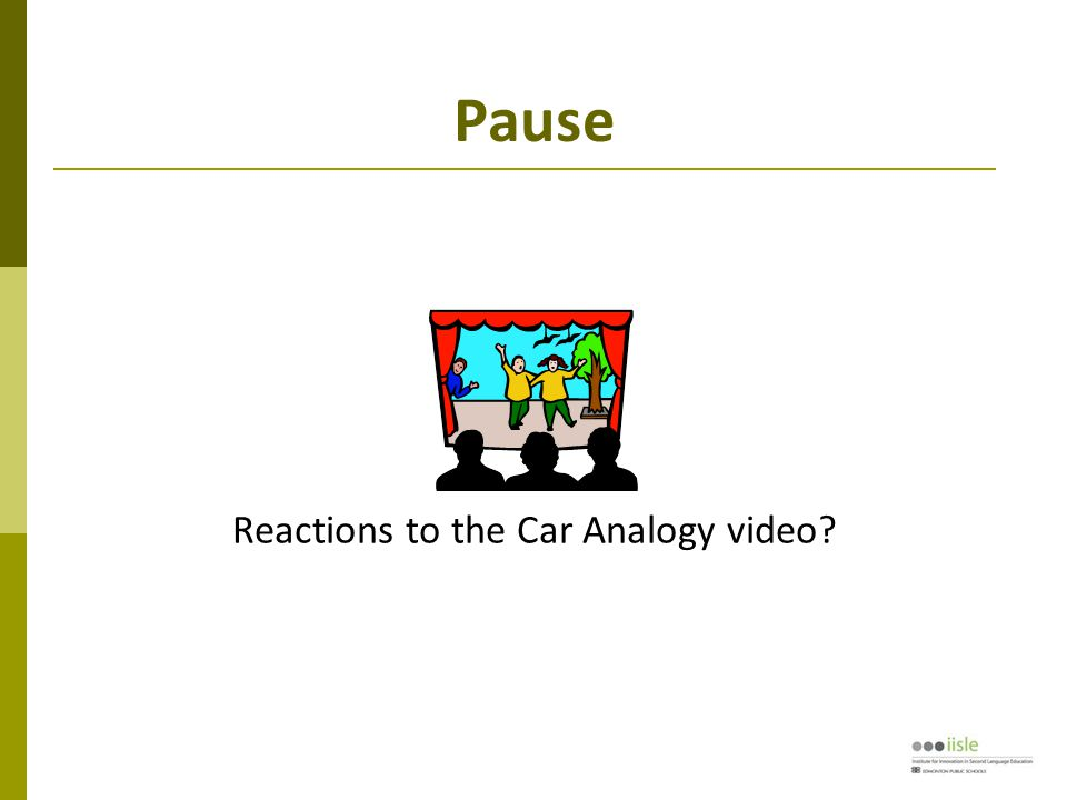 Pause Reactions to the Car Analogy video?