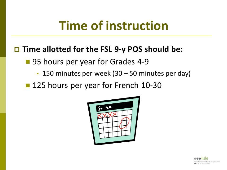 Language of instruction  French should be taught: en français
