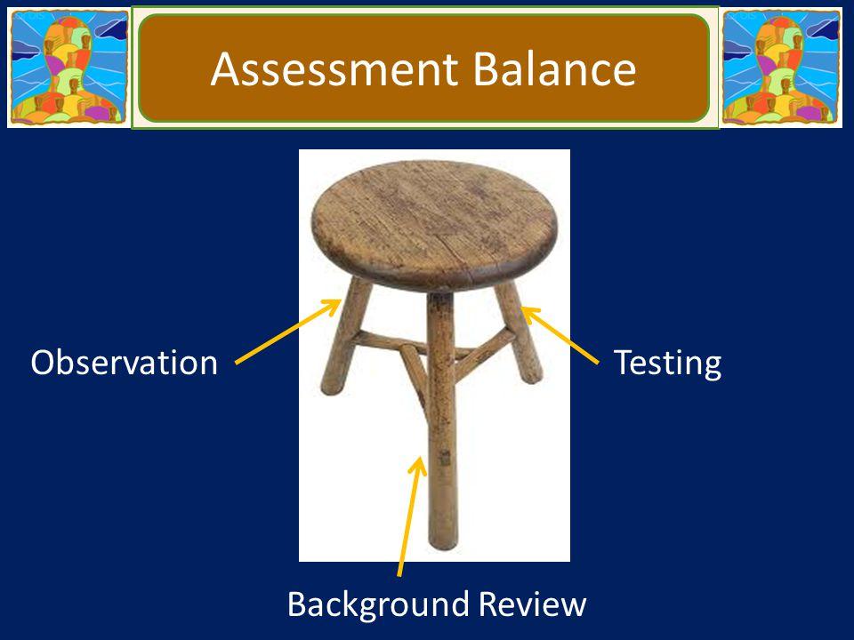 Assessment Balance Observation Background Review Testing