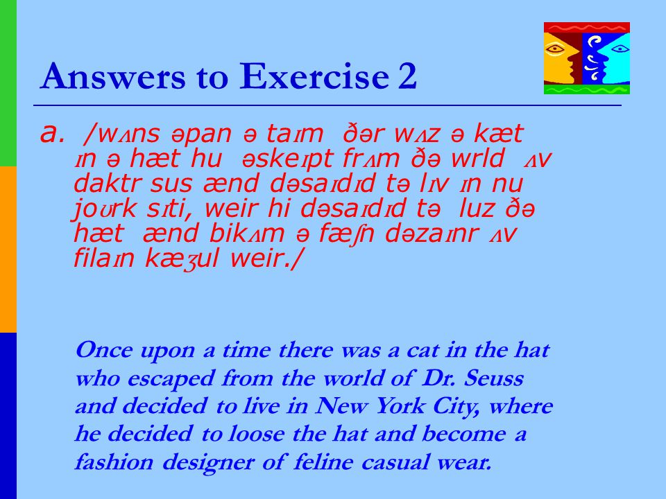 Answers to Exercise 2 a.