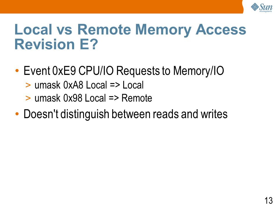 13 Local vs Remote Memory Access Revision E.