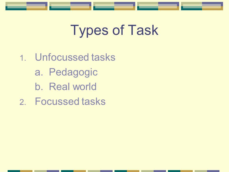 An Example of a Pedagogic Task 1.
