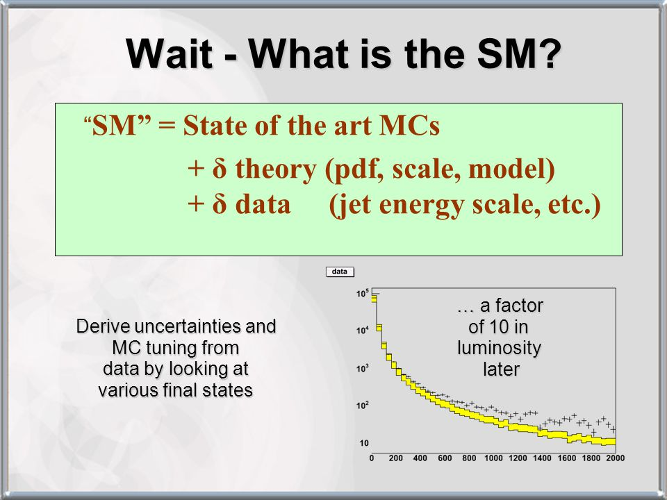 Wait - What is the SM.