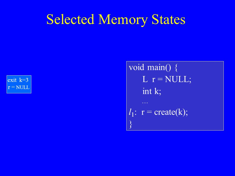 Prototype Implementation Implemented in TVLA [Lev-Ami, Sagiv SAS 2000] Analyzed some recursive list manipulating programs Verified cleanness properties: –No memory leaks –No NULL dereferences
