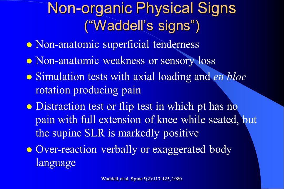 Waddell, et al.Spine 5(2):117-125, 1980.