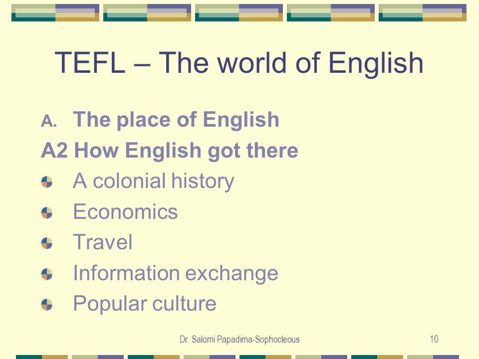 Dr. Salomi Papadima-Sophocleous10 TEFL – The world of English A.