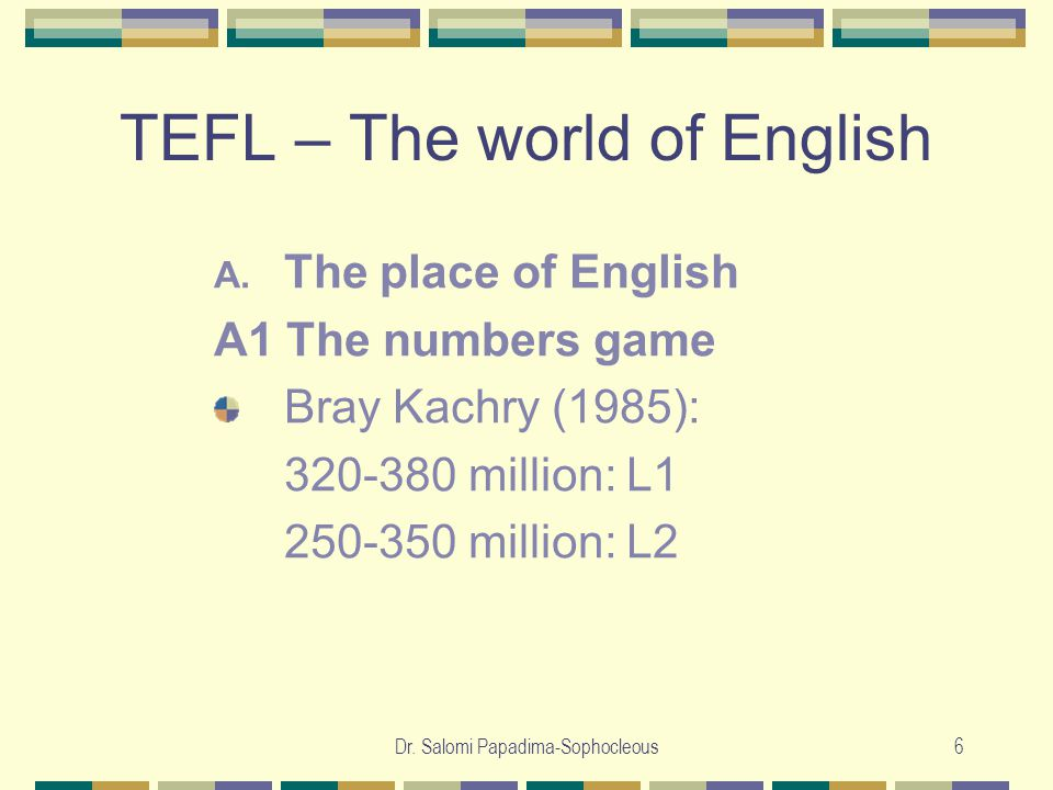 Dr.Salomi Papadima-Sophocleous7 TEFL – The world of English A.