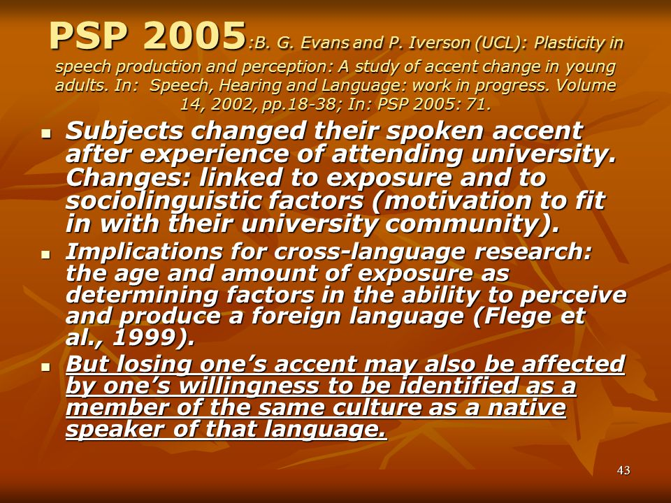 43 PSP 2005 :B.G. Evans and P.